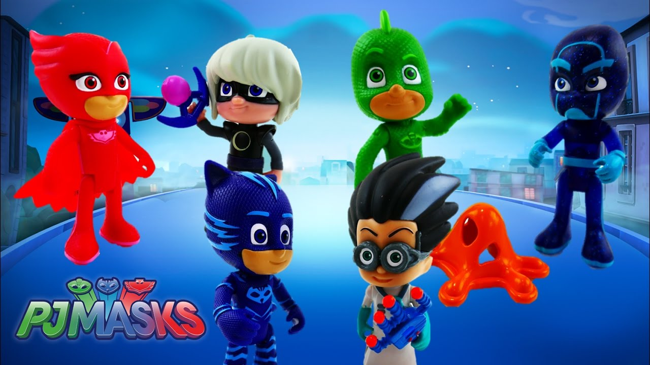 pj masks toy review episode 1 catboy owlette gekko romeo night