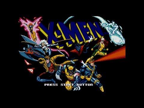 X - men Sega Genesis - Gambit Gameplay