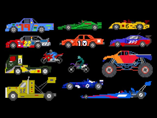 Sports Vehicles - Racing Cars & Trucks - The Kids' Picture Show (Fun & Educational Learning Video)