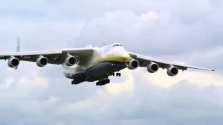 Antonov 225 Mriya Crosswind Landing at Manchester Airport