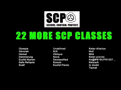 SCP-CLASSES PART 2 Another 22 classes!