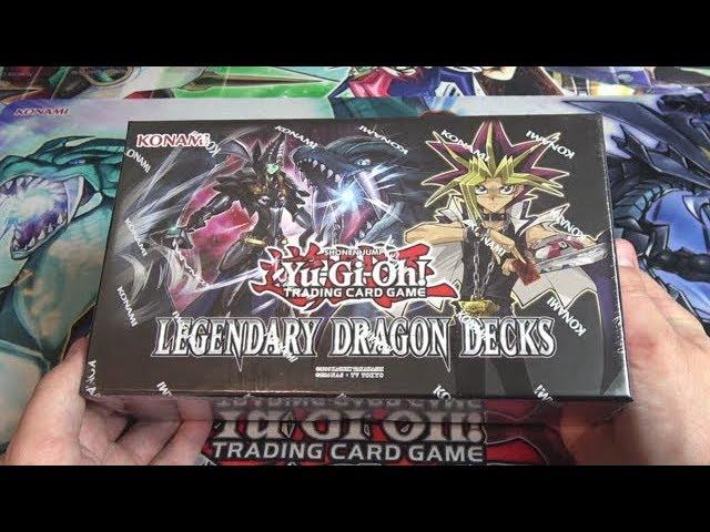 Yu-Gi-Oh Legendary Dragon Decks Sealed Box Illustrations Card