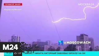 Фото Мощные кадры непогоды в Москве: в городе прошел сильный ливень со шквалистым ветром и грозой