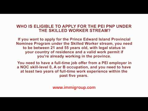 Who is eligible to apply for the PEI PNP under the Skilled Worker stream?