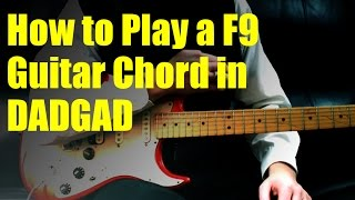 How to Play a F9 Guitar Chord in DADGAD