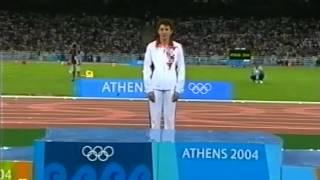 ОИ-2004. Награждение. Прыжки в длину. Женщины