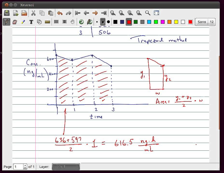 Area under curve using trapezoid method youtube area under curve using trapezoid method ccuart Images