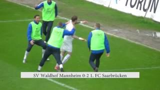 SV Waldhof Mannheim - 1. FC Saarbrücken  Spielzusammenfassung 33. Spieltag 16/17