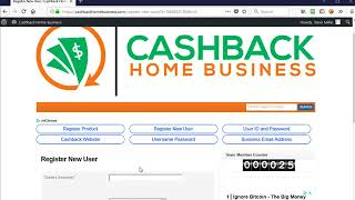 Enroll New Member at Cashback Home Business