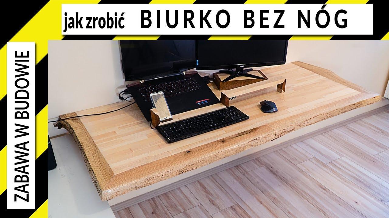 Jak Zrobic Biurko Live Edge Bez Nog Youtube