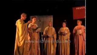 Benedictine Monastic Community Sing Christian Gregorian Chants In India