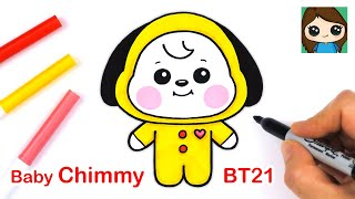 How to Draw BT21 BABY Chimmy | BTS Jimin Persona
