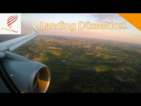 Approach and Landing Düsseldorf Germany Eurowings A320 | GoPro Hero5 | Hamburg and Travel