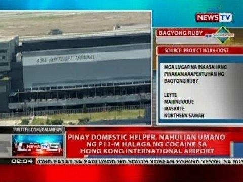 Pinay domestic helper, nahulihan umano ng P11-M halaga ng cocaine sa Hong Kong Int'l Airport