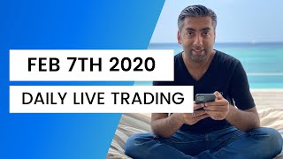 LIVE Trading - Feb 7, 2020 NFP Special