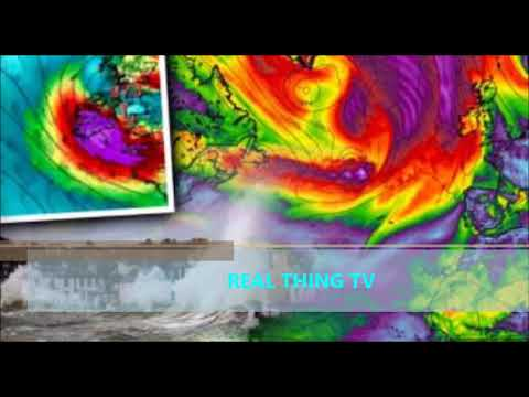 DOUBLE HURRICANE HELL Giant Atlantic SUPERSTORM set to smash into Britain