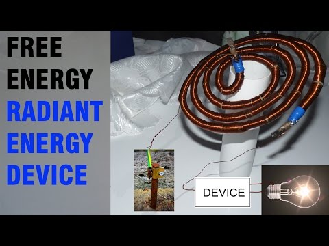 "Free Energy - Radiant Energy Device - ""Cosmic Energy Collector"""