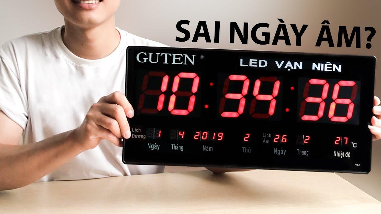 Đồng hồ lịch vạn niên chạy sai ngày âm và cách điều chỉnh