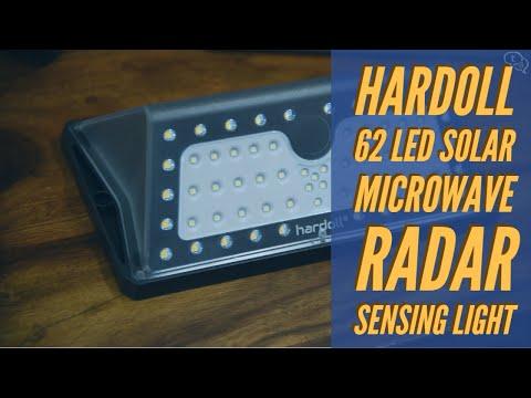 Hardoll 62 LED Solar Microwave Radar Sensing Light