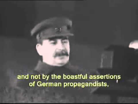 Stalin speech - November 7, 1941 [English subtitles]