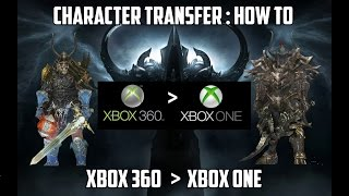 Diablo 3 RoS - Transfer Character from Xbox 360 - Xbox One