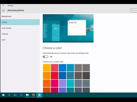 How to Change Taskbar Color In Windows 10 - Howtosolveit