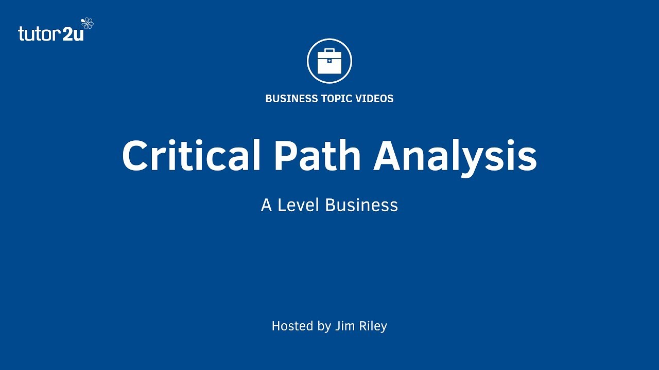 Network Analysis (Critical Path Analysis) Explained - YouTube
