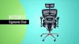 Balt Butterfly Executive Mesh Chair Youtube