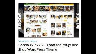 Boodo WP v2.2 – Food and Magaz…