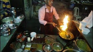 Indian Street Food: Paneer Biryani, Chana & Tikka Masala, Palak Lasooni - Om Punjabi, Bardoli, India