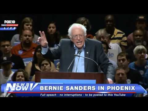 Bernie Sanders campaign rally Phoenix AZ (7/18/2015)