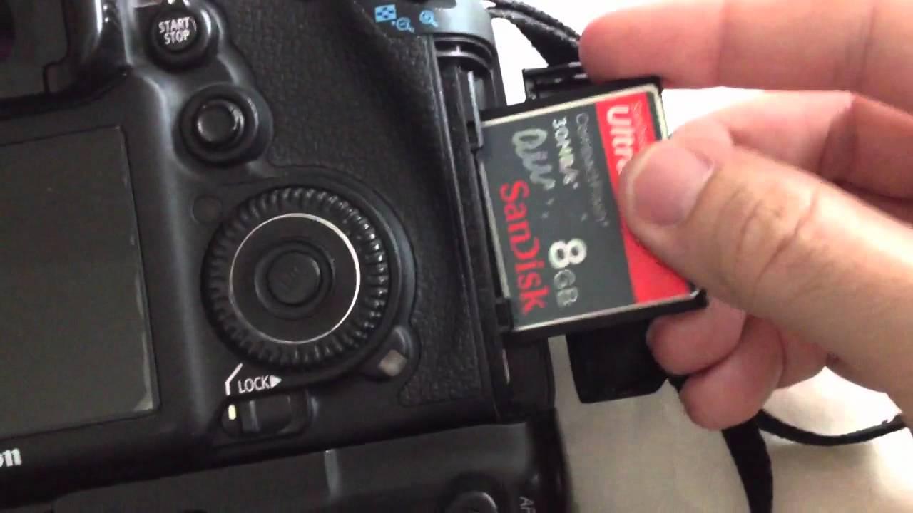Canon 7d card slot broken