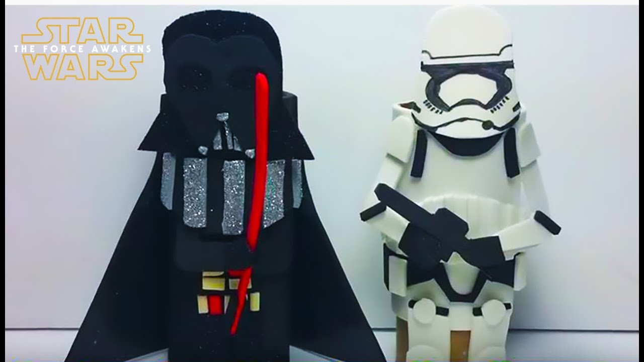 How to make star wars toilet paper roll craft figures darth vader how to make star wars toilet paper roll craft figures darth vader and first order stormtrooper youtube jeuxipadfo Choice Image