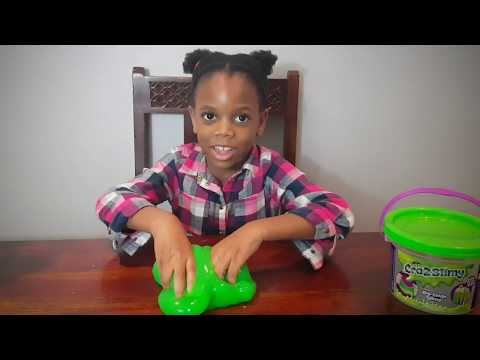 Playing with slime