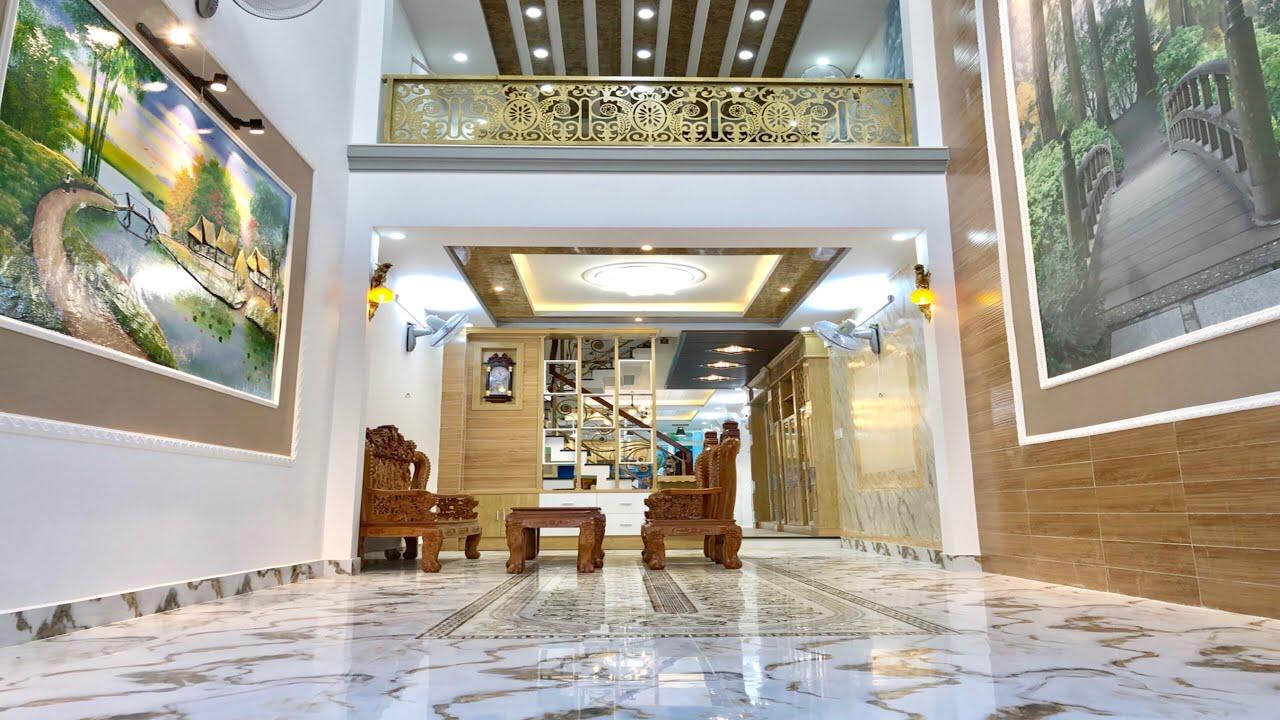 Bán nhà Gò Vấp|( 50 )4.5 x 23m Chốt giá rẻ cho ai mua nhanh nhà đẹp 4 lầu nội thất| nhà đất Huy Hùng