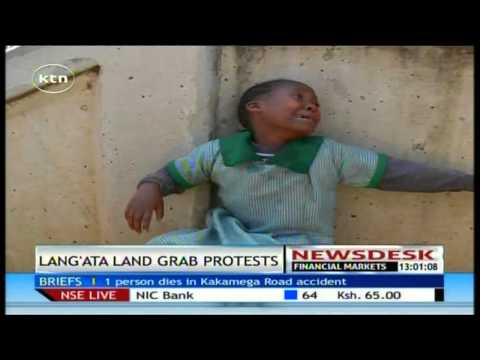 Police lobe tear gas canisters at pupils protesting grabbing of land