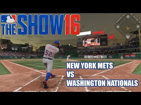 Thumbnail image for ''MLB The Show 16' Gameplay: New York Mets vs. Washington Nationals (PS4)'