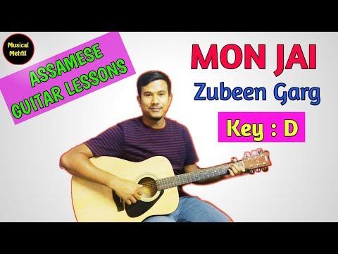 Mon Jai | Zubeen Garg | Assamese Guitar Lesson