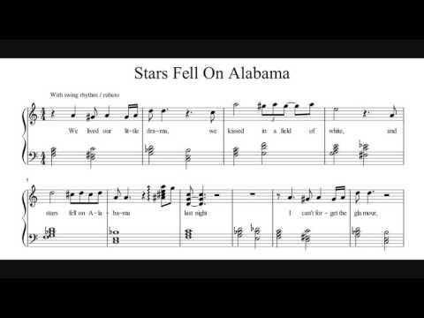 Stars Fell On Alabama - Piano Sheet Music (My Transcription)