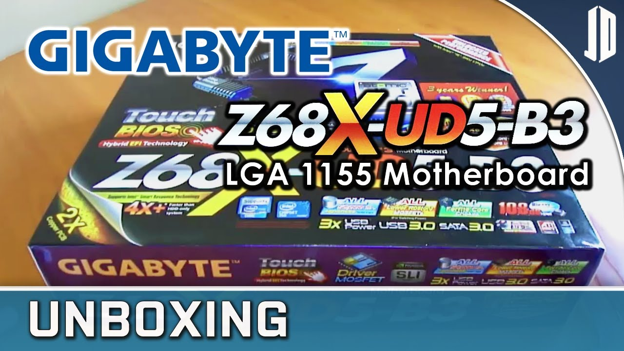 GIGABYTE Z68X-UD5-B3 LGA 1155 Motherboard Unboxing + Overview