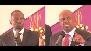 Deputy President Ruto and Senator Moi clash at Mark Too's burial