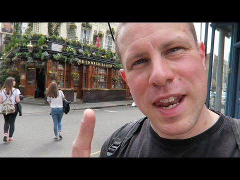 The Churchill Arms Traditional Pub in London's Notting Hill