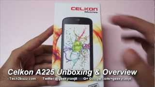 Celkon A225 budget android phone Unboxing & first looks