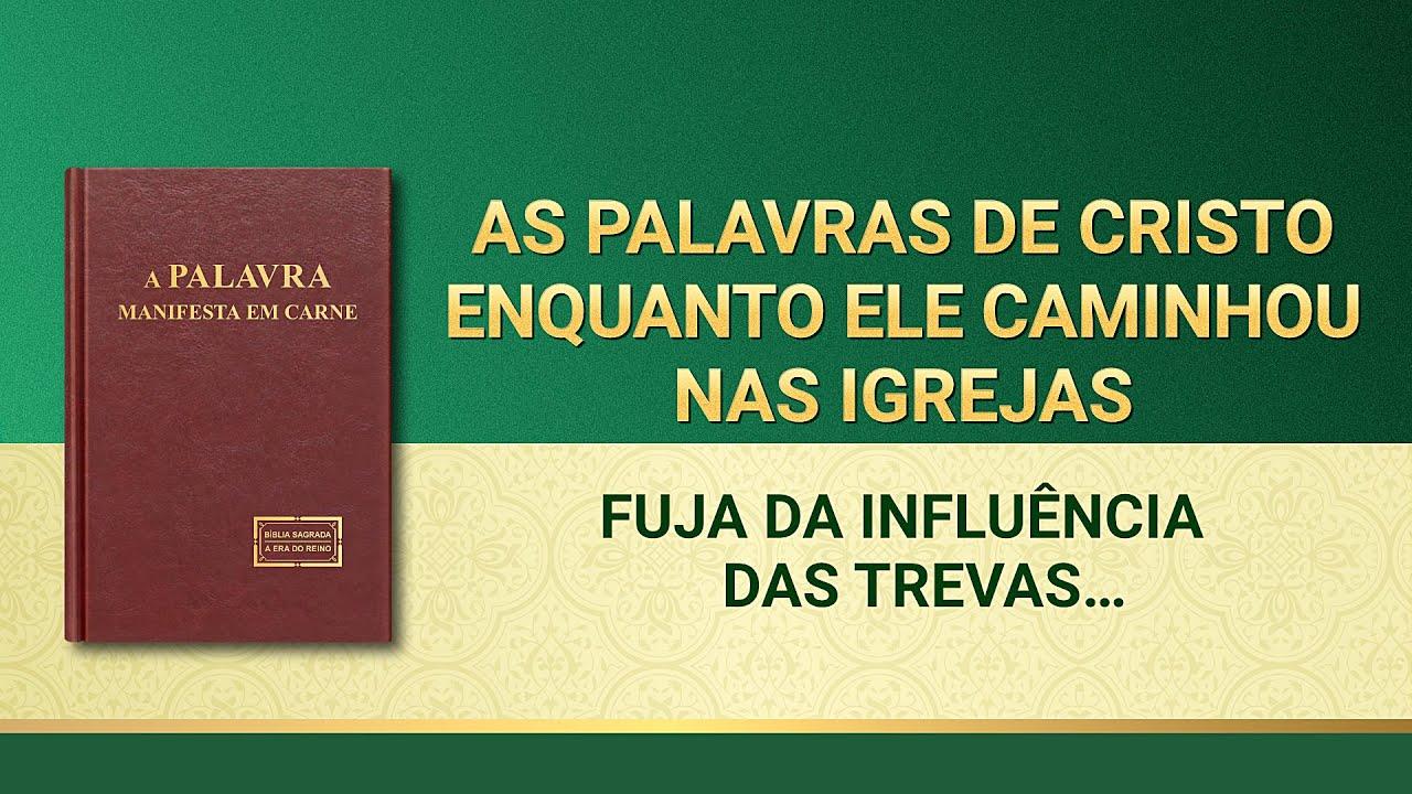 """Palavra de Deus """"Fuja da influência das trevas e você será ganho por Deus"""""""
