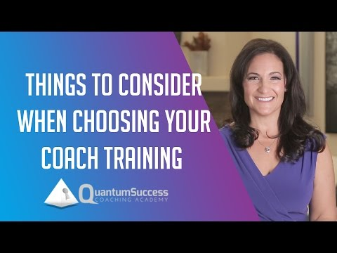 Factors to Consider When Choosing Your Coach Training by Christy Whitman