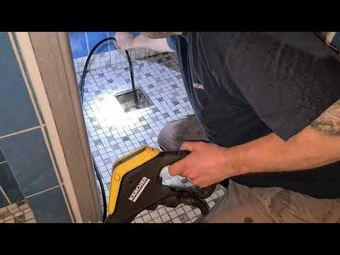 Kärcher PC 15 Pipe Cleaning Kit test bathroom drain clug removal Part.1