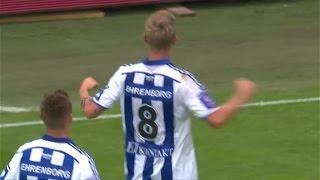 Sören Rieks gör 1-0 till IFK mot decimerat Häcken - TV4 Sport