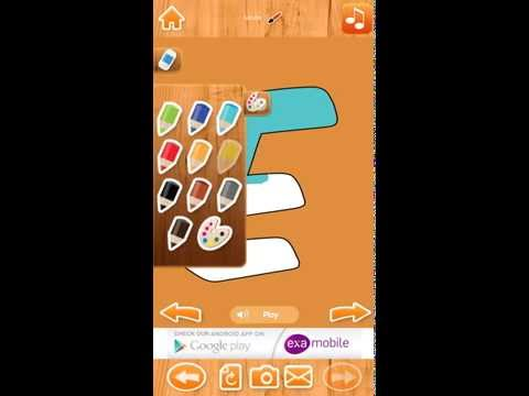 Alphabet Paint for kids - ExaMobile Android iOS App