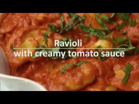 Ravioli With Creamy Tomato Sauce