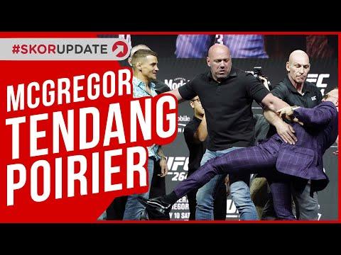 Conor McGregor Tendang Poirier di Jumpa Pers
